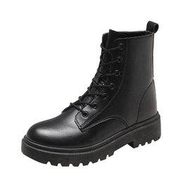 马丁靴女英伦风2019年新款秋季网红秋款短靴秋冬季加绒百搭靴子冬