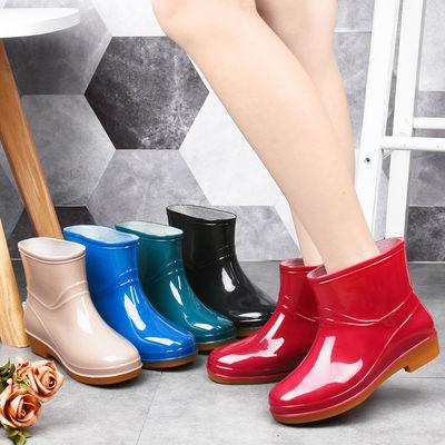 雨鞋女短筒时尚防滑雨靴成人水鞋外穿水靴厨房防水鞋保暖加棉胶鞋