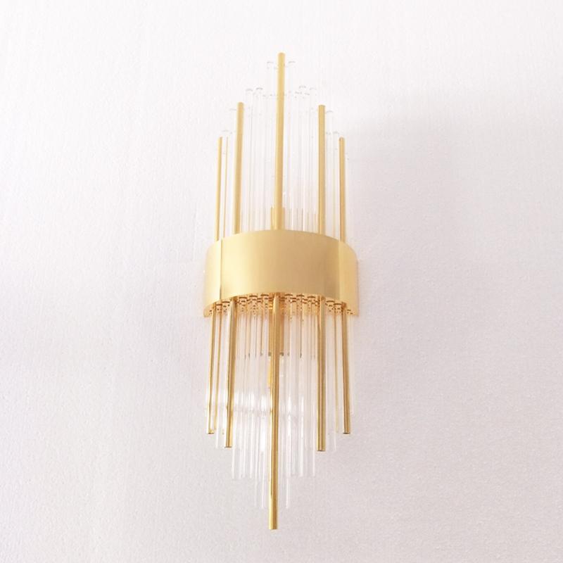 北欧壁灯后现代水晶设计师样板房客厅背景卧室床头客房轻奢创意灯