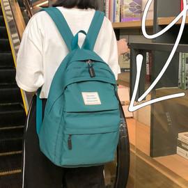 大容量书包古着感少女高中大学生帆布双肩包2019新款ins超火背包