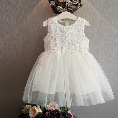 3夏裝韓版女童4蕾絲連衣裙小童寶寶背心裙子5兒童洋氣公主紗裙6歲