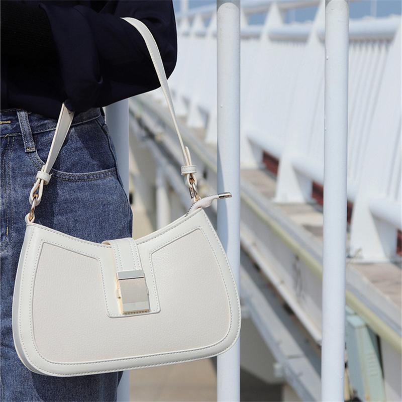 【法式腋下包】小众斜挎包白色包包新款2021大容量高级感