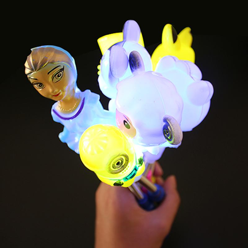 发光弹簧棒多款卡通棒KT猫荧光棒儿童发光小孩地摊玩具货源批发