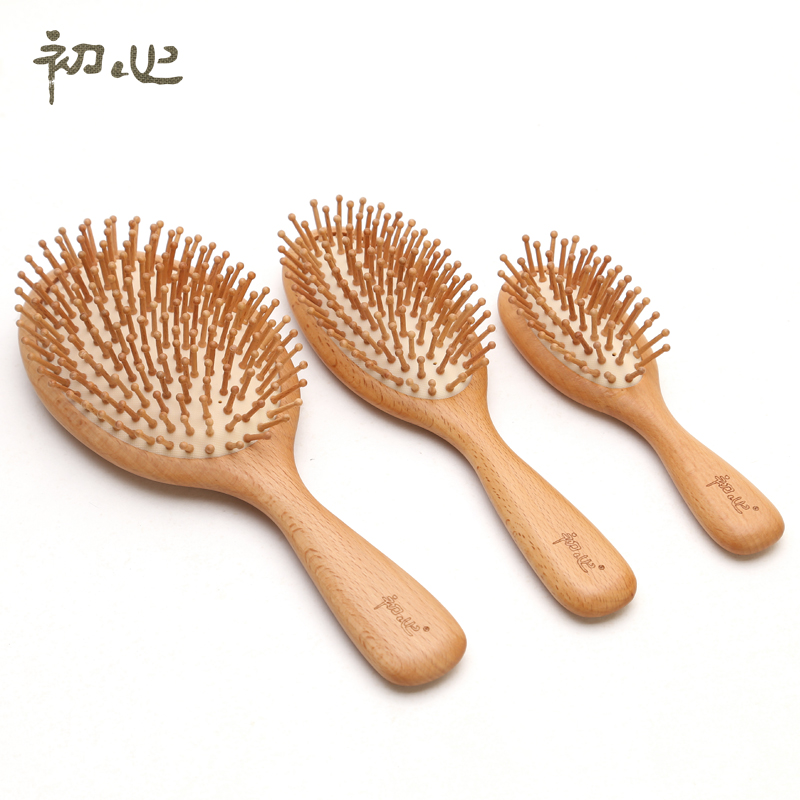 头皮按摩梳子头部顺发美发梳气囊卷发梳防静电气垫化妆木梳离子梳