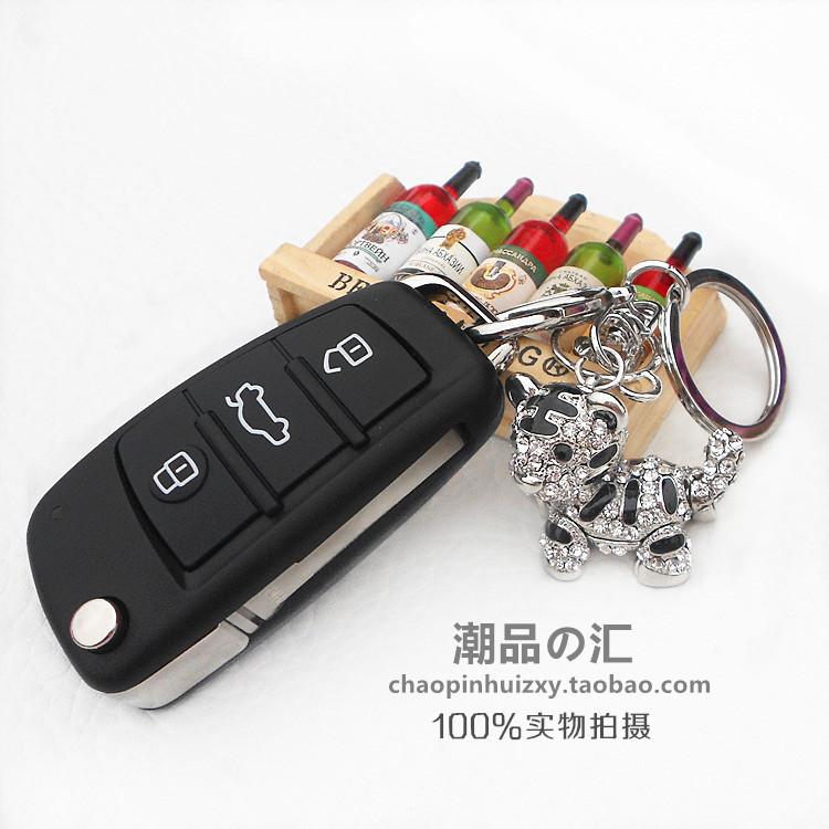 十二生肖老虎水晶钥匙扣汽车钥匙链女包包挂件手工饰品创意礼品男