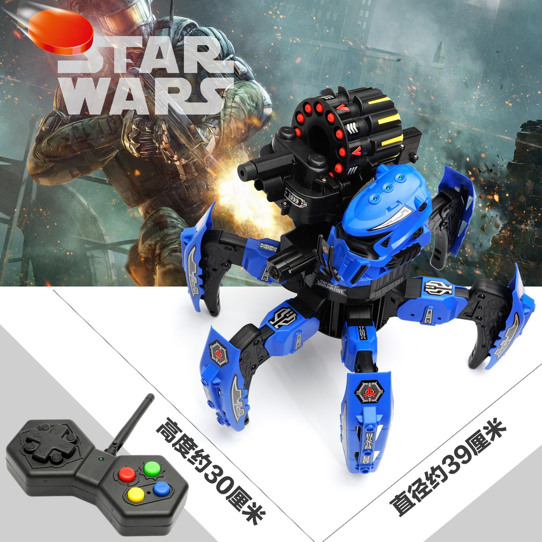 大型遥控对战坦克星际机器人蜘蛛绝地战甲玩具充电水陆两栖多功能