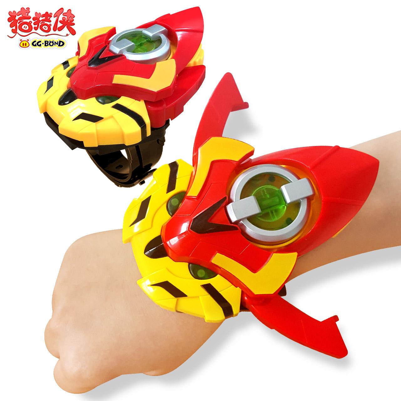 猪猪侠之超星萌宠心五灵全套超星锁铁拳虎阿五变形玩具变身器手表