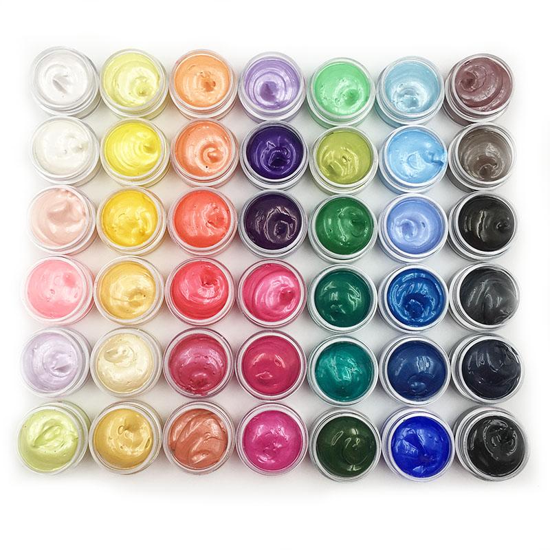 珠光丙烯颜料42色分装手绘石头画手机壳儿童幼儿园油画颜料不掉色