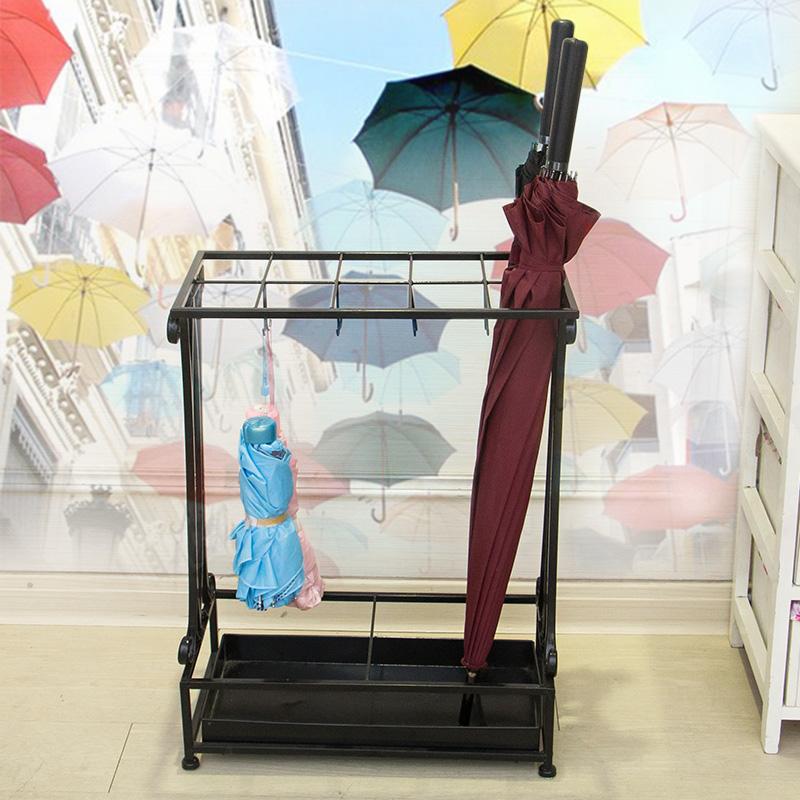 雨伞架欧式铁艺雨伞收纳架子家用大堂门厅酒店办公室雨伞接水盘