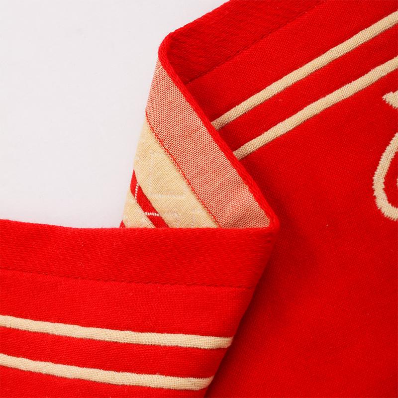 一對純棉紗布枕巾女高檔大人情侶結婚喜字大紅色全棉歐式枕頭巾
