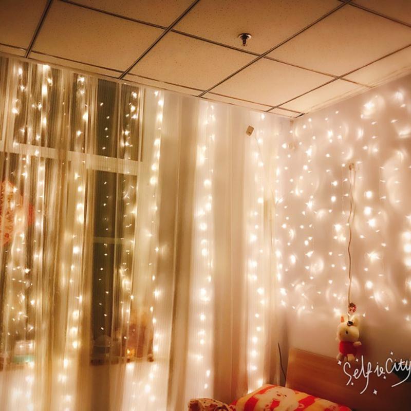 窗帘瀑布房间装饰浪漫彩灯串灯ins少女心网红寝室彩灯家用过年灯