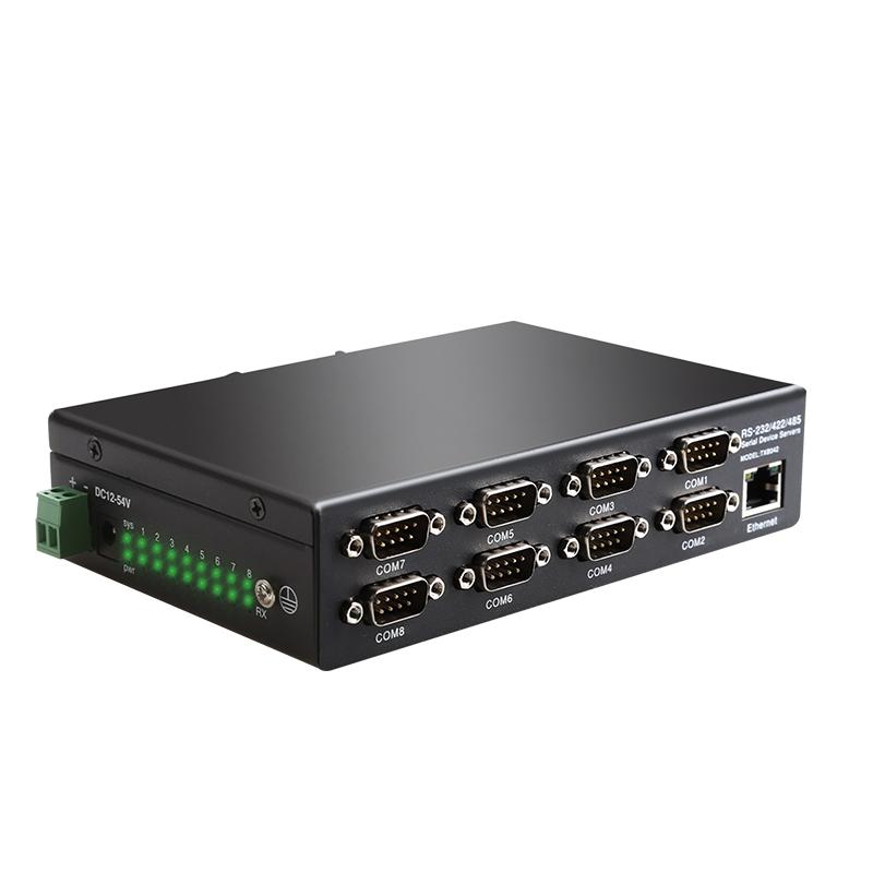 串口转以太网透传设备 422 485 RS232 串口服务器协议转换 IP TCP Modbus 串口工业级服务器自定义波特率 8 DIEWU