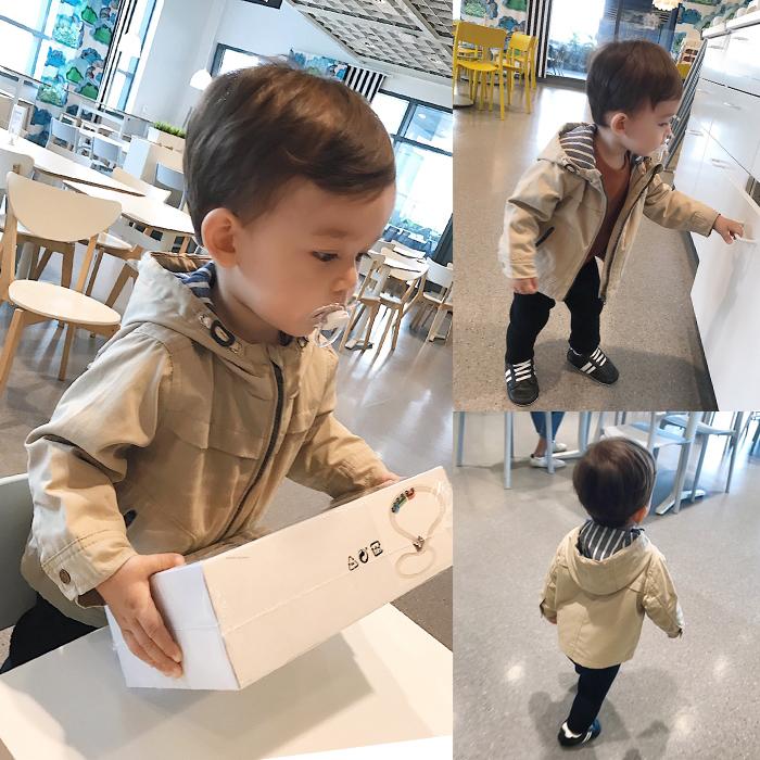 [淘寶網] 辰辰媽童裝 嬰兒外套男春秋拉鍊衫連帽外套寶寶休閒上衣小童衣服