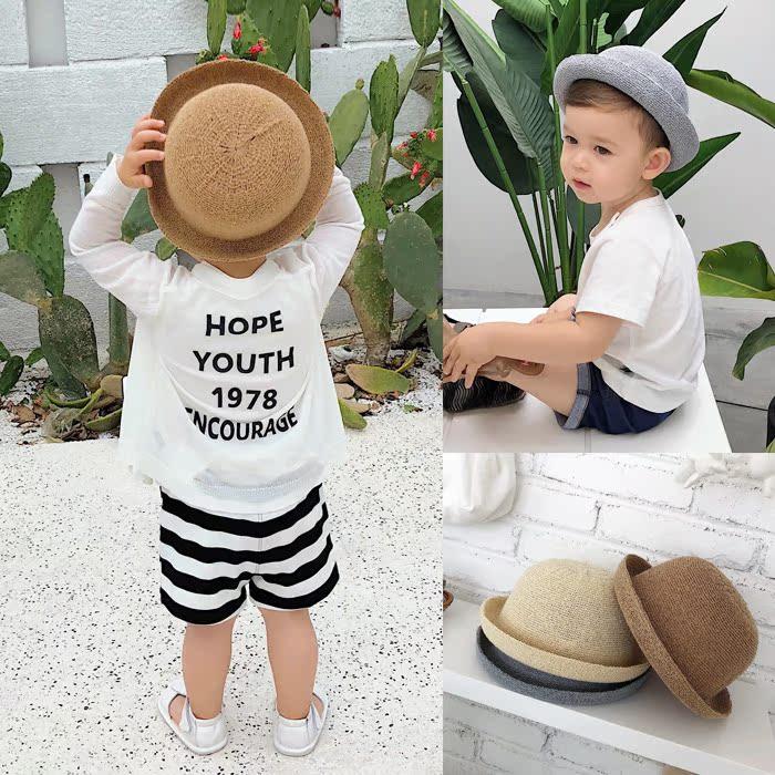 [淘寶網] 辰辰媽嬰童裝兒童夏季寶寶漁夫帽草帽1-3歲男小童遮陽帽嬰兒帽子