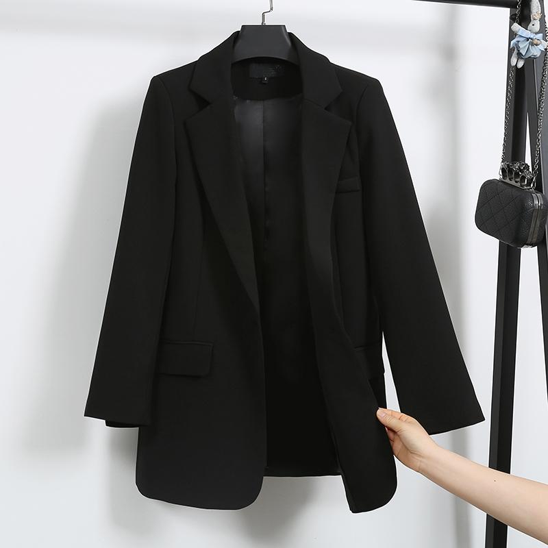 春季新款小西装女chic纯色港味长袖休闲修身显瘦ins韩版