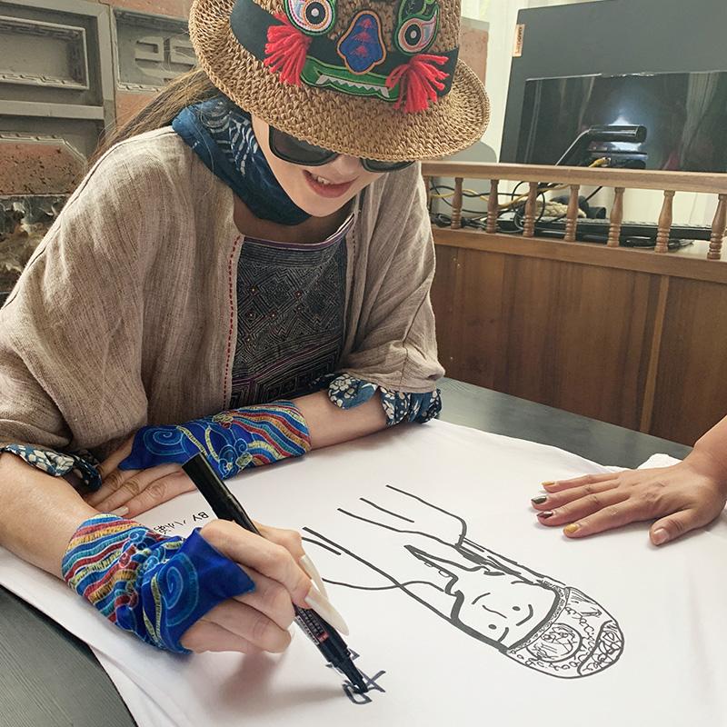杨丽萍原创设计《亲爱的你》原创印花T恤