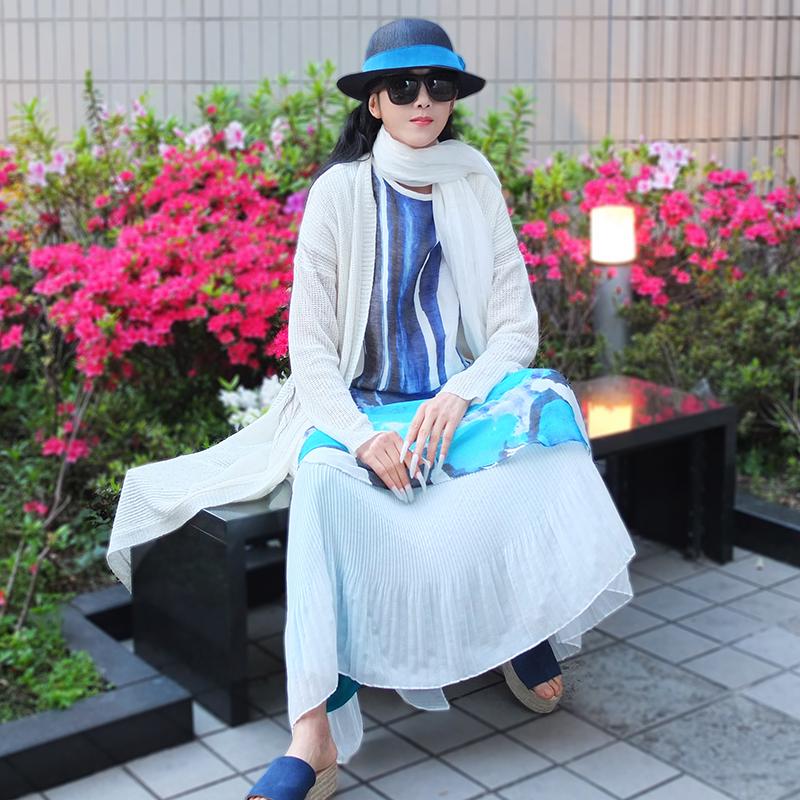 杨丽萍设计春秋新款女装同款原创民族风针织长袖修身中长款开衫女