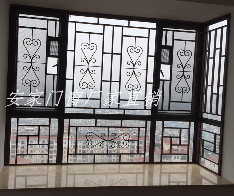 热卖铝合金焊接窗花防盗窗防蚊防盗304金钢网纱窗阳台防护栏窗户