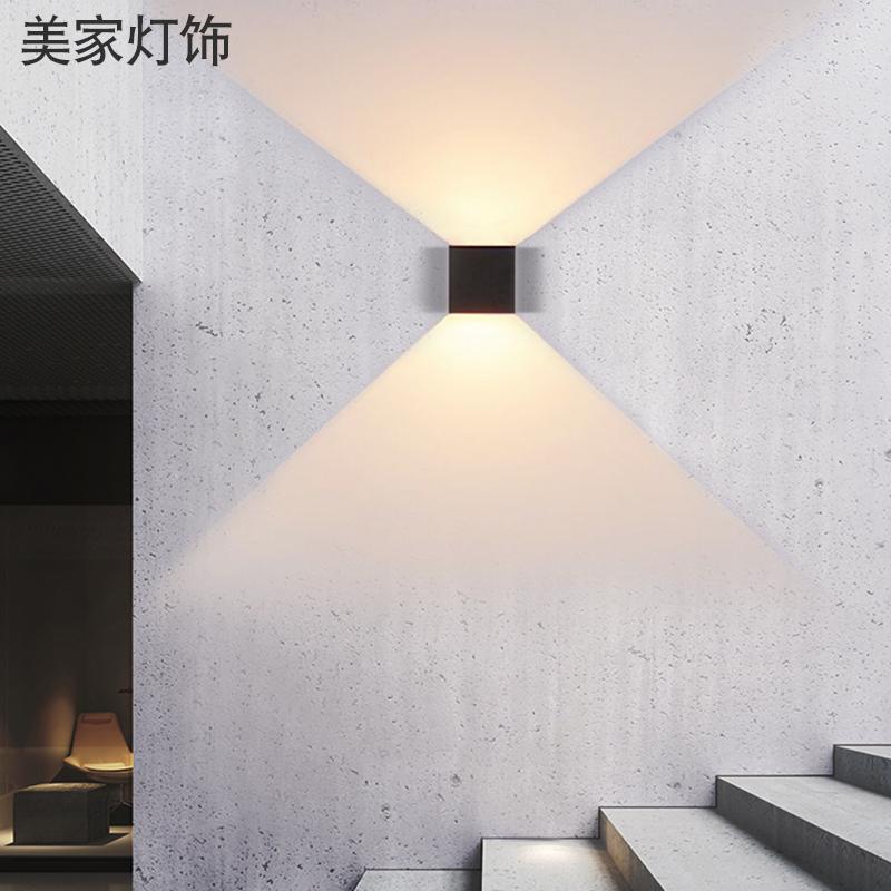 北欧壁灯床头灯现代简约卧室客厅过道灯创意阳台楼梯走廊别墅壁灯