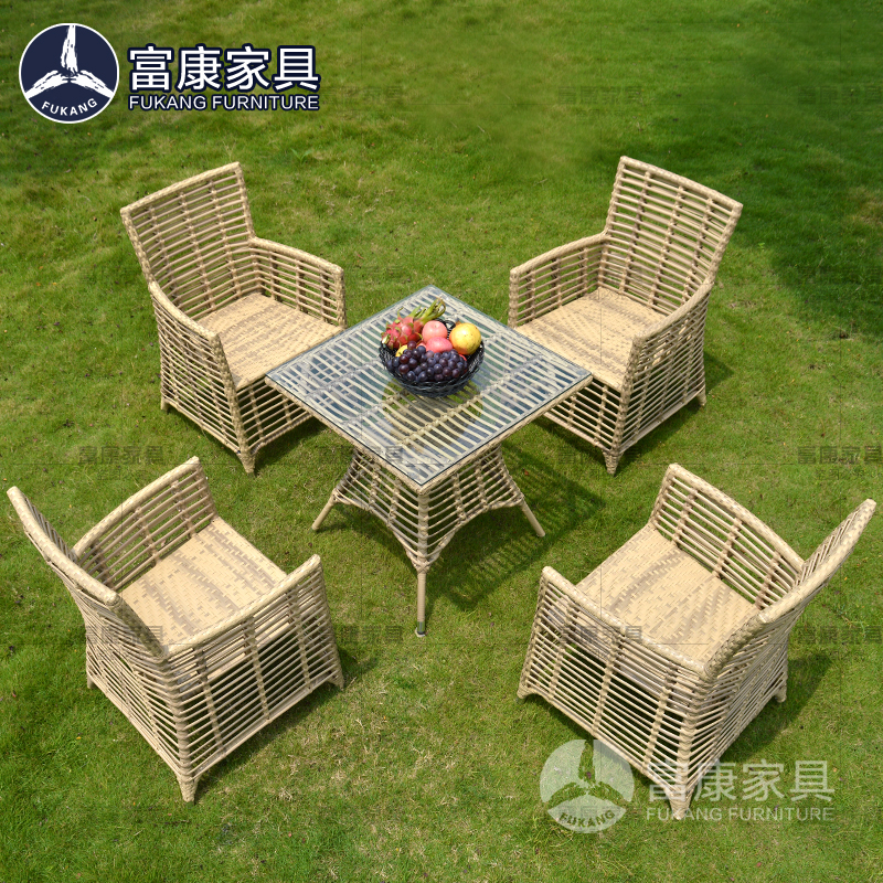 优新品藤椅三五件套露台阳台桌椅庭院室外休闲户外藤编组合咖啡厅