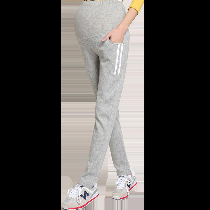 孕妇裤子秋季长裤休闲冬装运动裤秋冬款时尚外穿打底裤加绒加厚96