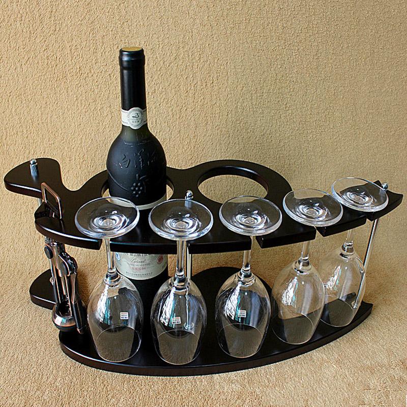 特價促銷木製酒架紅酒架創意歐式葡萄實木酒架酒杯架倒掛酒櫃擺件
