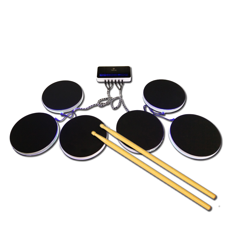 便携式电子鼓架子鼓打击板爵士鼓儿童初学者入门学习练习演出电鼓