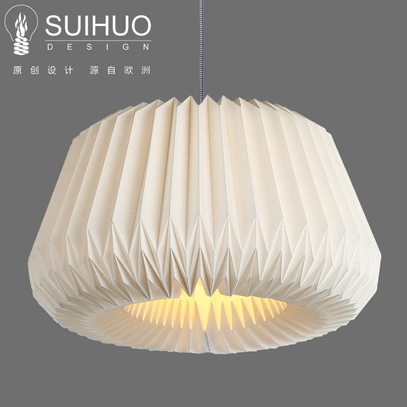 卧室吧台手工折纸灯罩餐厅吊灯