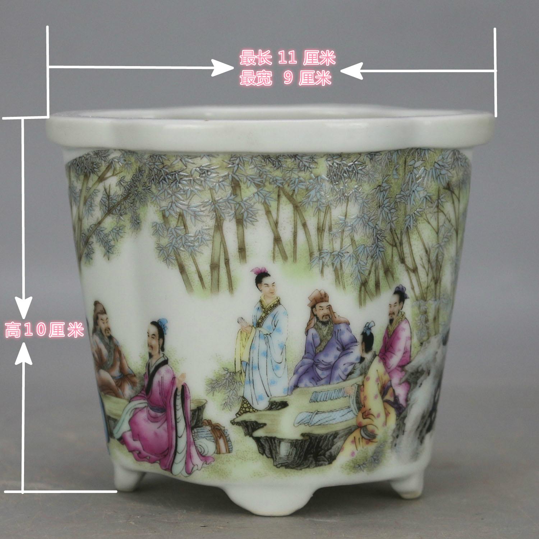 复古风多款可选海棠异形小号花盆陶瓷花盆菖蒲盆多肉兰花仿古花盆
