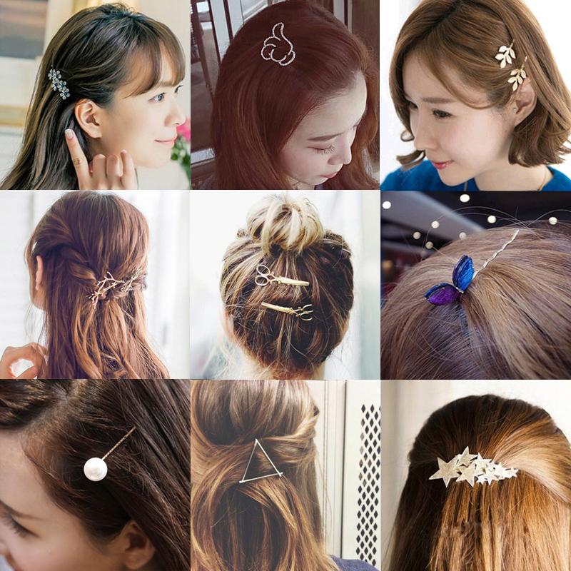 森系韩国饰品复古发夹刘海夹子头饰网红发卡发饰小边夹成人顶夹女
