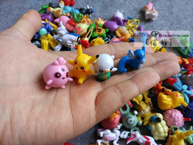 口袋妖怪宠物小精灵神奇宝贝玩具公仔手办144个配收纳盒 送精灵球