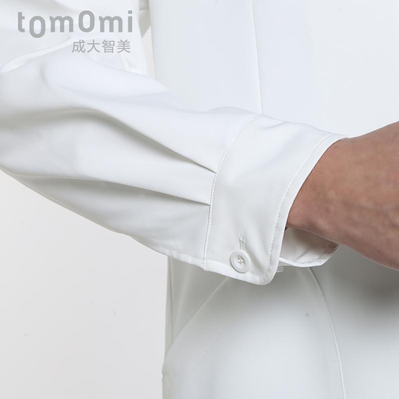 成大智美收袖口医院男医生服工作服长袖白大褂整形制服男