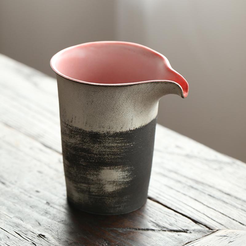 景德镇全手工凝香红素妆银公道杯,送女生特色实用礼物