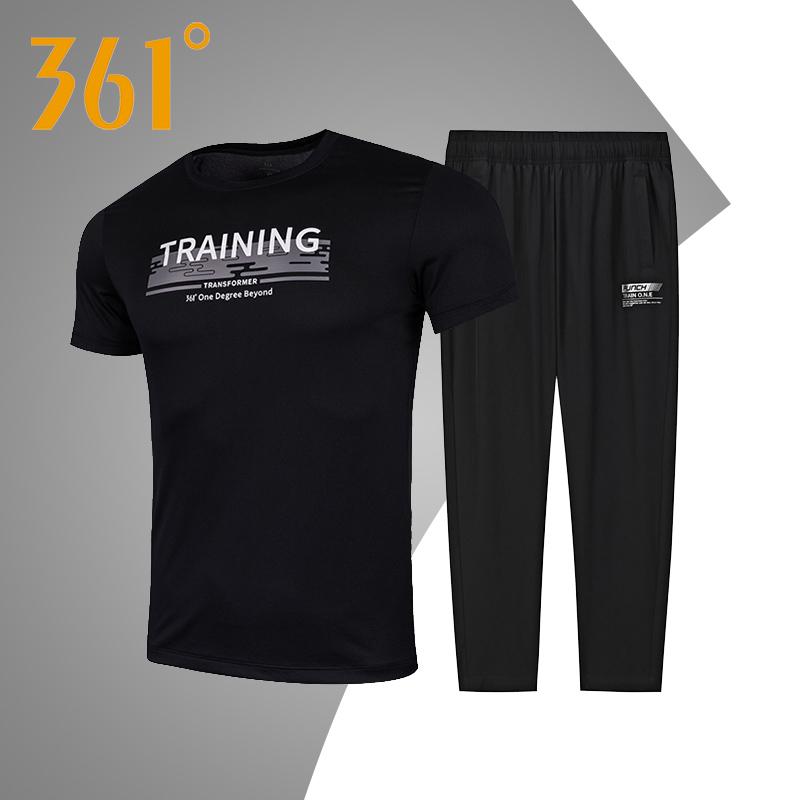 361男装 运动套装男2020新款夏季综训运动服男士361度两件套套装R
