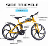 Mountain folding alloy bicycle model toy simulation shared bicycle decoration collection ornaments boys and girls