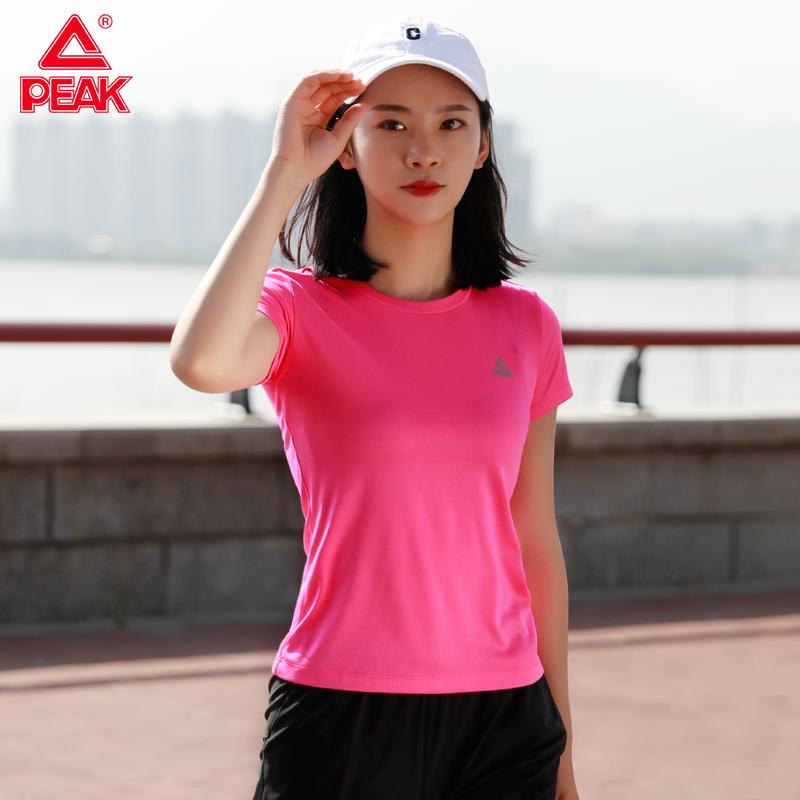 匹克短袖T恤女2020春夏季新款圆领吸汗透气上衣跑步健身运动服女