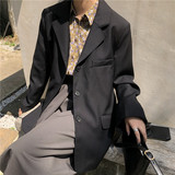 Sleep at 11 niche retro silhouette stylish texture loose suit single-breasted suit jacket