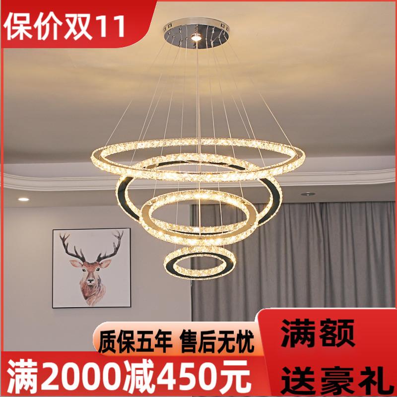 灯环形圆形水晶吊灯具