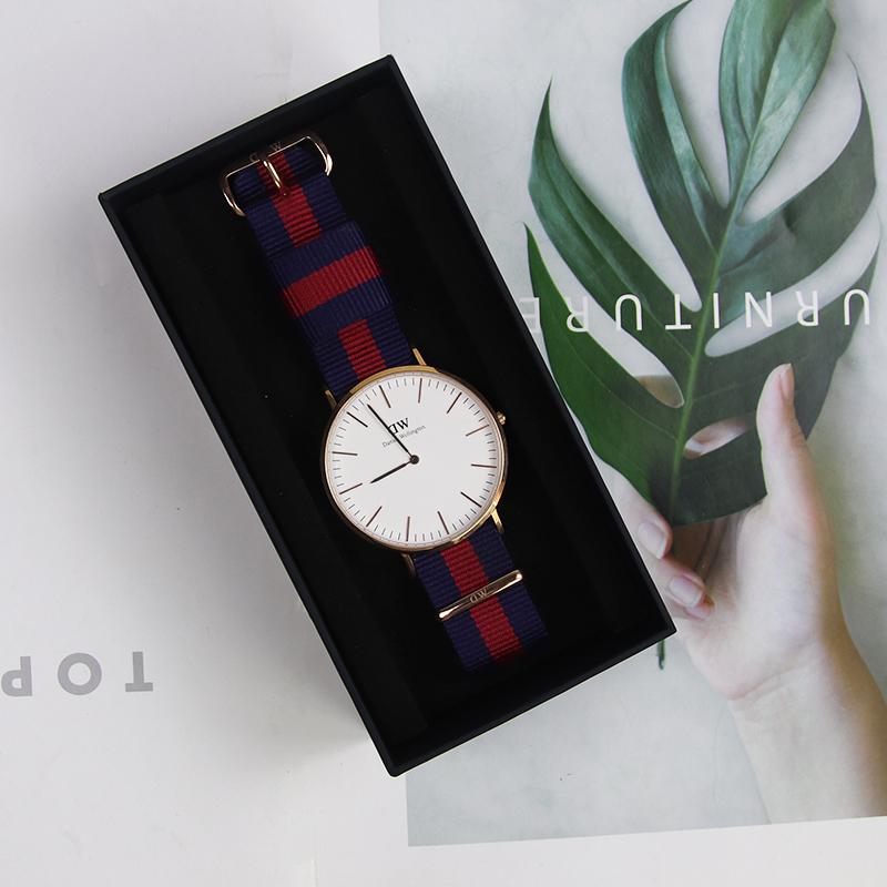 dw 丹尼尔惠灵顿 专柜正品 手表男女时尚彩色帆布学生石英防水腕表