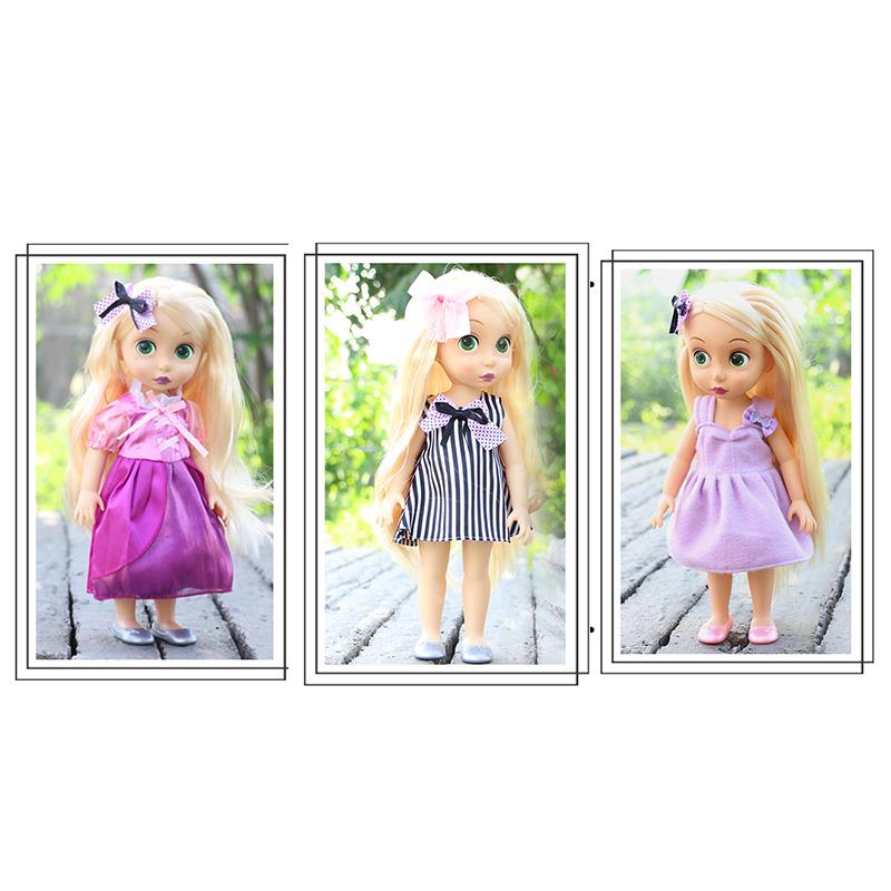 沙龙娃娃衣服套装公主连衣裙16寸长发公主娃娃配件换装玩具裙子