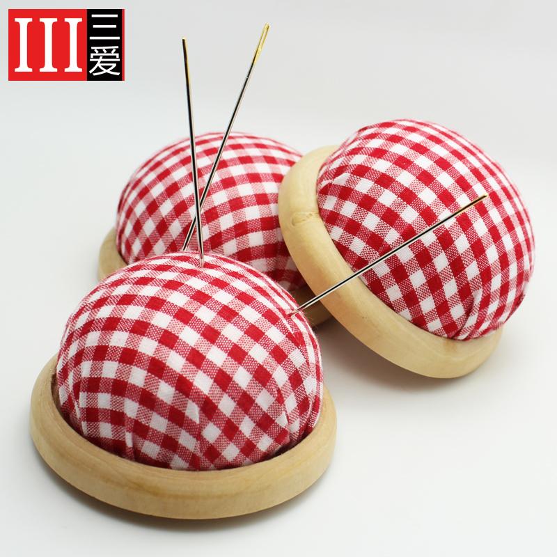 三爱 DIY布艺手工工具 木底插针垫 插针包防止掉针 珠针座垫