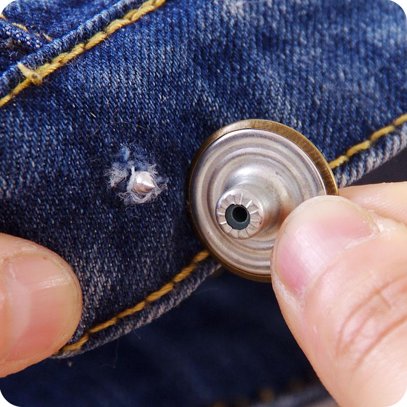 古铜色男女牛仔裤纽扣 大衣风衣牛仔服扣子 多用金属工字扣免工具
