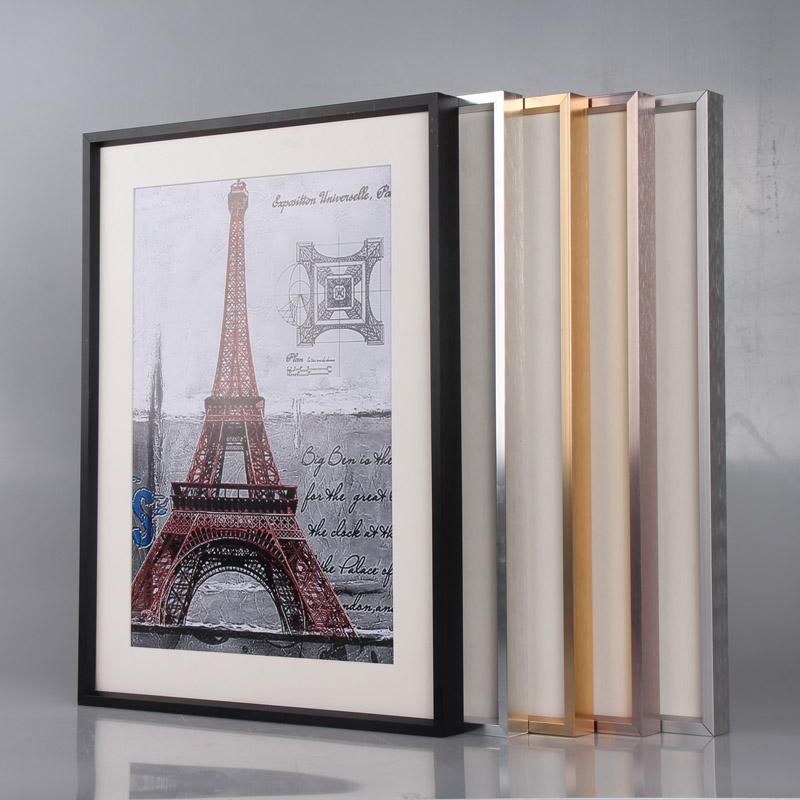 金属相框海报框立体简约铝合金a4画框挂墙相片框外框装裱定制摆台