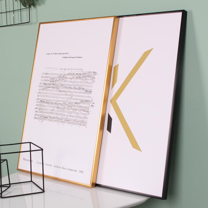 简约铝合金画框外框挂墙北欧相框ins摆台定制任意尺寸照片拼图框
