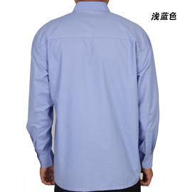 纯棉中老年人长袖衬衫老人男衬衣寸中年人爸爸装春秋夏季常规父亲