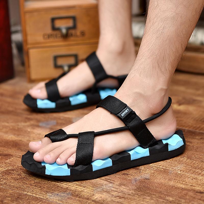 夏天男凉鞋人字拖两用休闲拖鞋防滑厚底时尚夏季沙滩鞋潮男凉拖鞋
