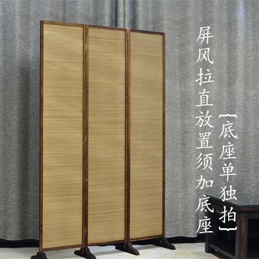 屏风隔断折屏做旧古典复古屏风中式折叠屏风客厅隔断竹子实木屏风