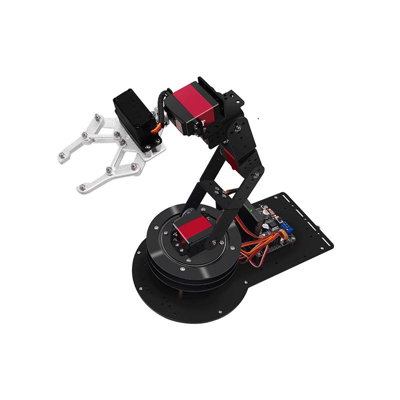 开源6自由度机械手臂STM32/51/zduino遥控机器人机械臂教学套件