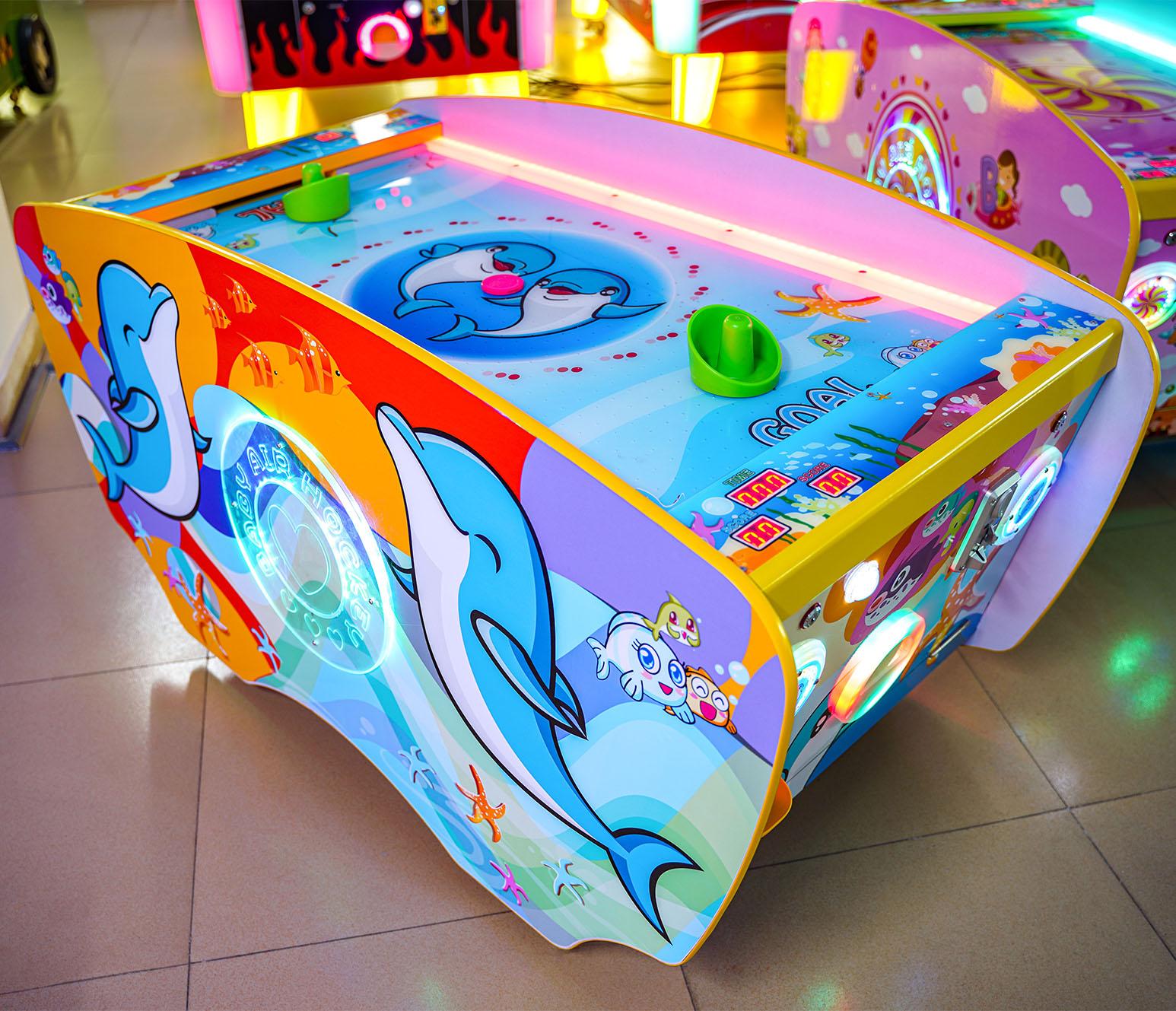 迷你气垫球儿童曲棍球亲子互动气垫球儿童游乐设备儿童电玩游戏机