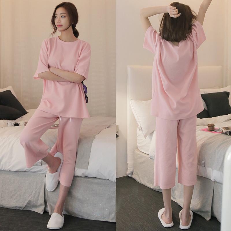 夏季睡衣女短袖短裤两件套韩版清新甜美可爱学生夏天女家居服套装